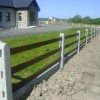 Concrete posts for timber rails