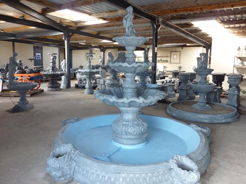 Large three tier fountain