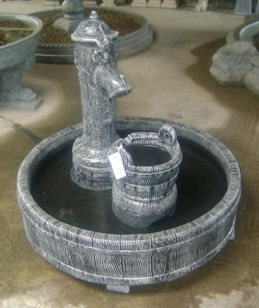 Pump in barrel fountain
