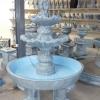 Two tier basin fountain