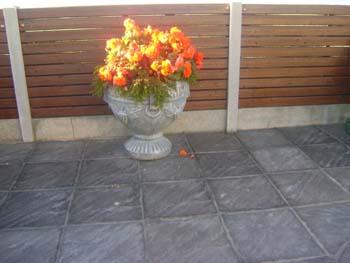 Riven slate charcoal slabs