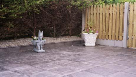 Slate slab charcoal grey patio