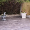 Slate slab charcoal grey patio