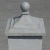 Decorative pier cap with ball