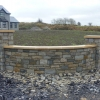 Yellow sandstone flat wall and pier caps