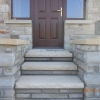 Yellow sandstone steps