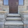 Yellow sandstone steps