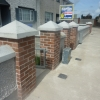 Peaked wall and pier capping