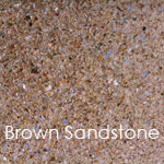 Reconstituted brown sandstone