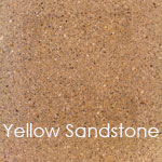 Reconstituted yellow sandstone